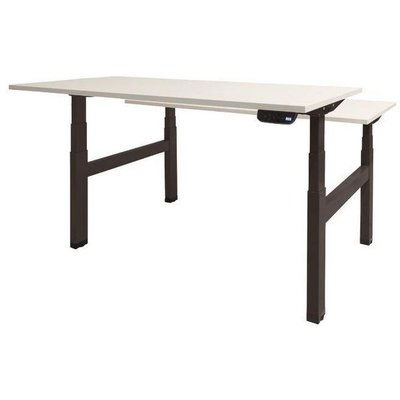 Wit Tafelblad Met Zwarte Poten.Prof Desk Dextro Plus Duo Verstelbaar Bureau 180 X 80 Cm Wit Blad Zwarte Poten